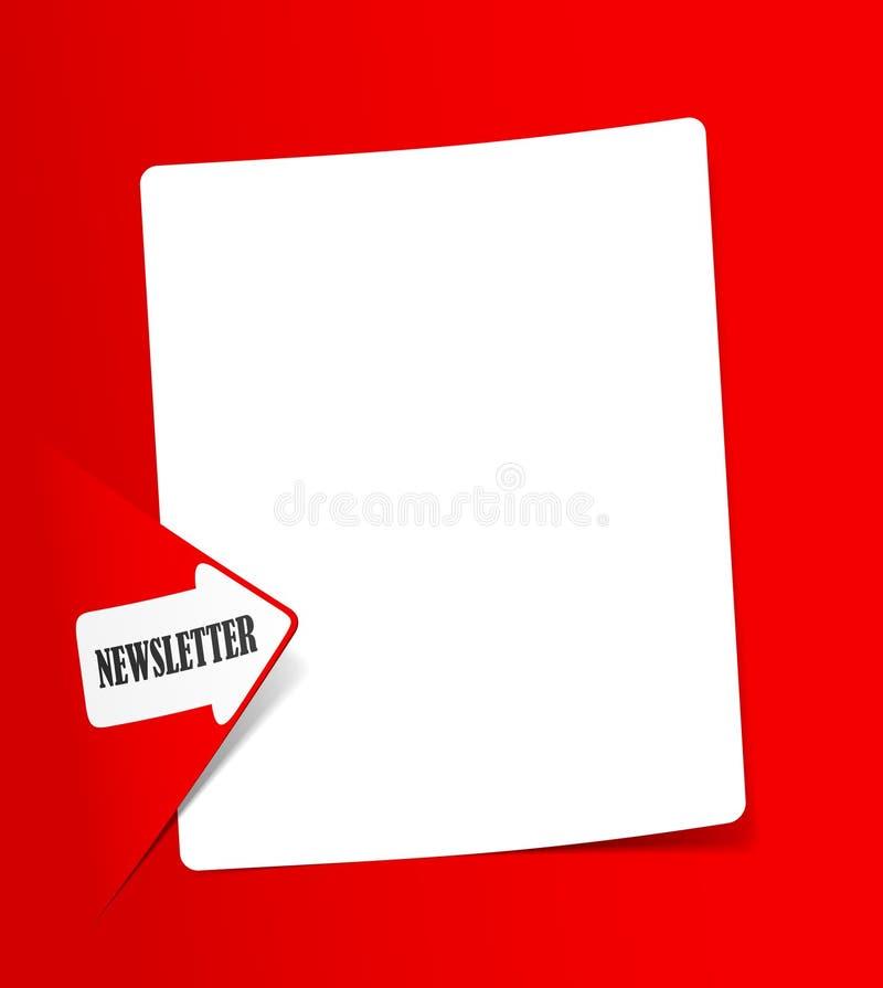 Boletín De Noticias, Elementos Realistas Del Diseño Fotos de archivo