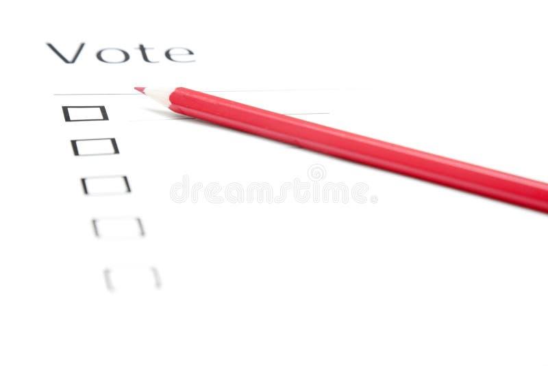 Boletim de votação fotos de stock royalty free