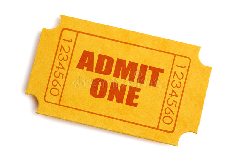 Boleto de la admisión fotos de archivo