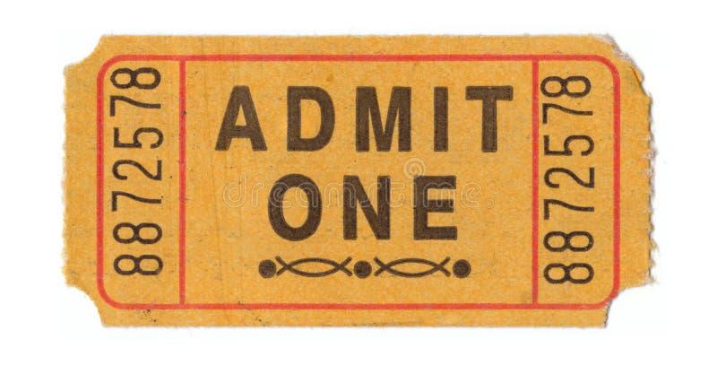 Boleto de la admisión de la vendimia imagen de archivo