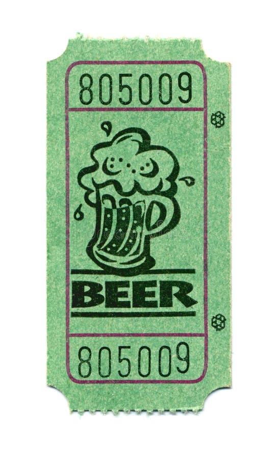 Boleto de la cerveza fotografía de archivo
