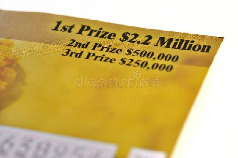 Boleto de lotería fotos de archivo libres de regalías