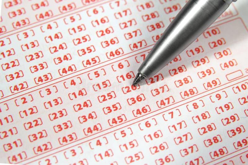 Boleto de lotería imagen de archivo libre de regalías