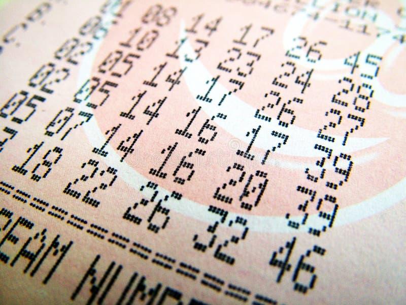 Download Boleto de lotería nacional foto de archivo. Imagen de lotería - 7285346