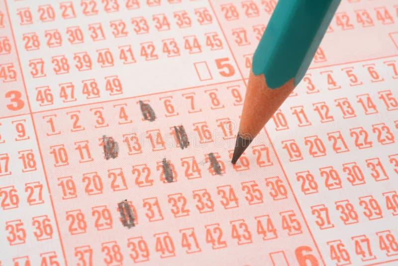 Boleto de lotería y lápiz #2 fotografía de archivo libre de regalías