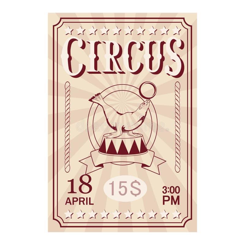 Boleto del circo Cartel del carnaval ilustración del vector