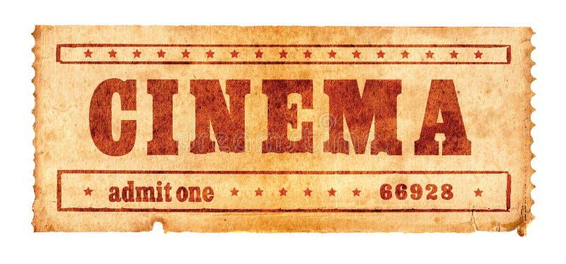 Boleto envejecido 2 del cine imagen de archivo
