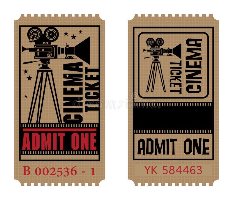 Boleto retro del cine ilustración del vector