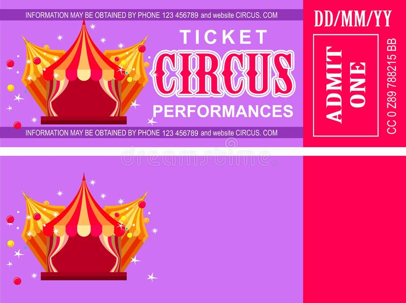 Boleto retro del circo libre illustration