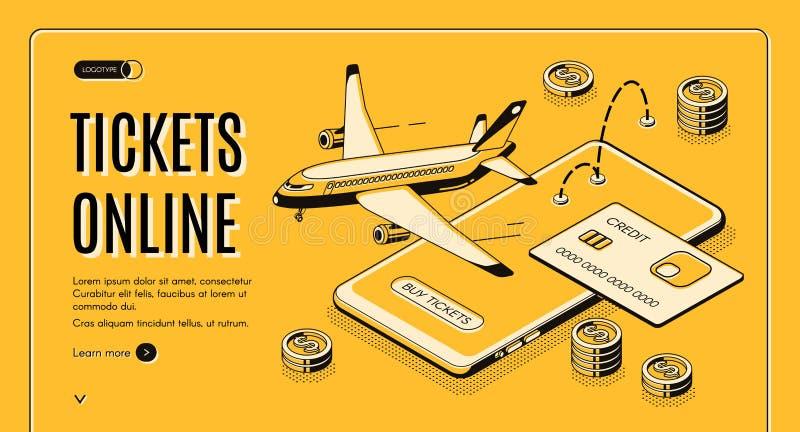 Boletos de compra página web isométrica en línea del vector libre illustration