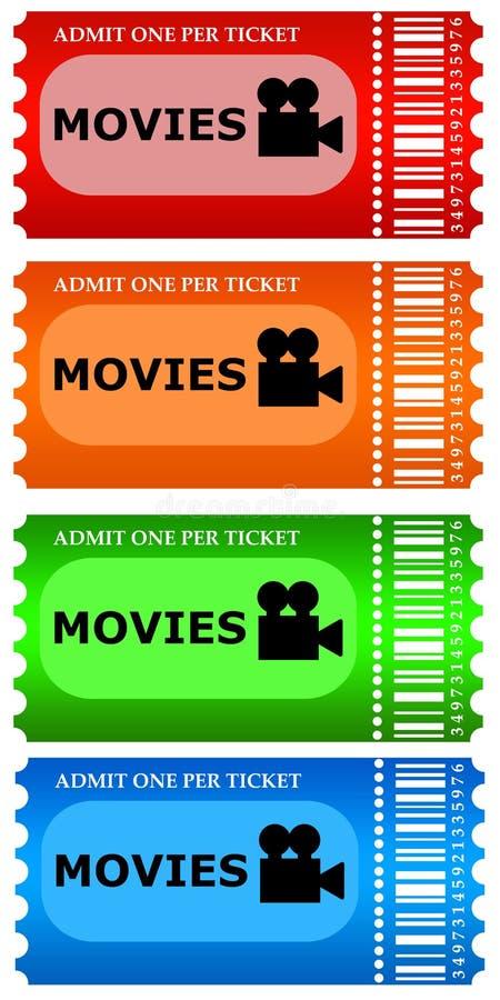 Boletos de la película stock de ilustración