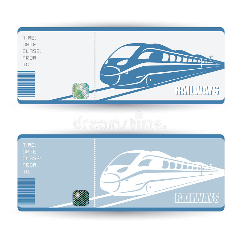 Boletos de tren stock de ilustración