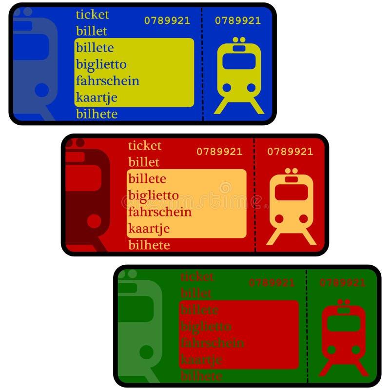 Boletos de tren ilustración del vector