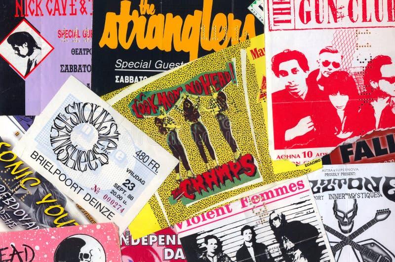 Boletos del concierto de la música en directo imagen de archivo libre de regalías