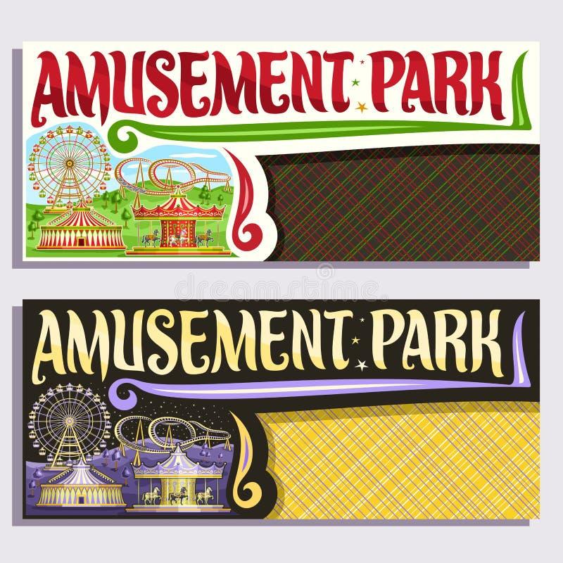 Boletos del vector para el parque de atracciones libre illustration