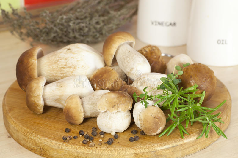 Download Boletus On The Kitchen Close View Stock Image - Image: 26651769