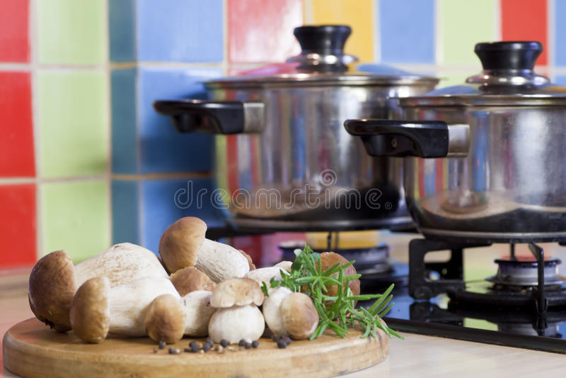 Download Boletus Mushrooms On The Kitchen Stock Image - Image: 26651703