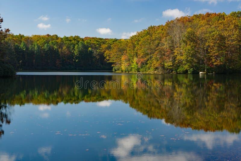 Boley jezioro Zachodnia Virginia obrazy royalty free