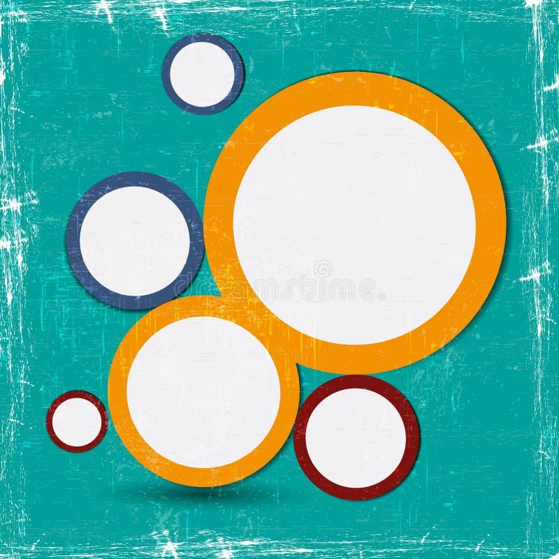 Bolha abstrata do projeto de Web ilustração stock