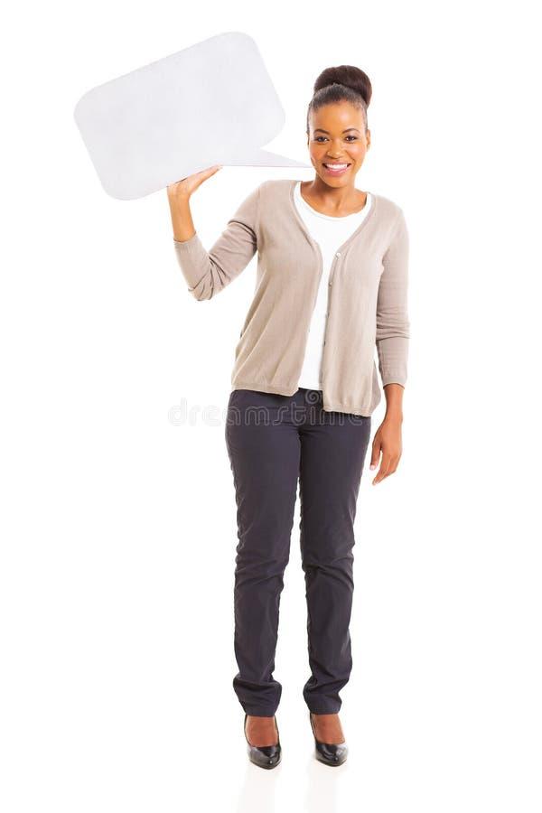 Bolha africana do discurso da mulher fotos de stock royalty free