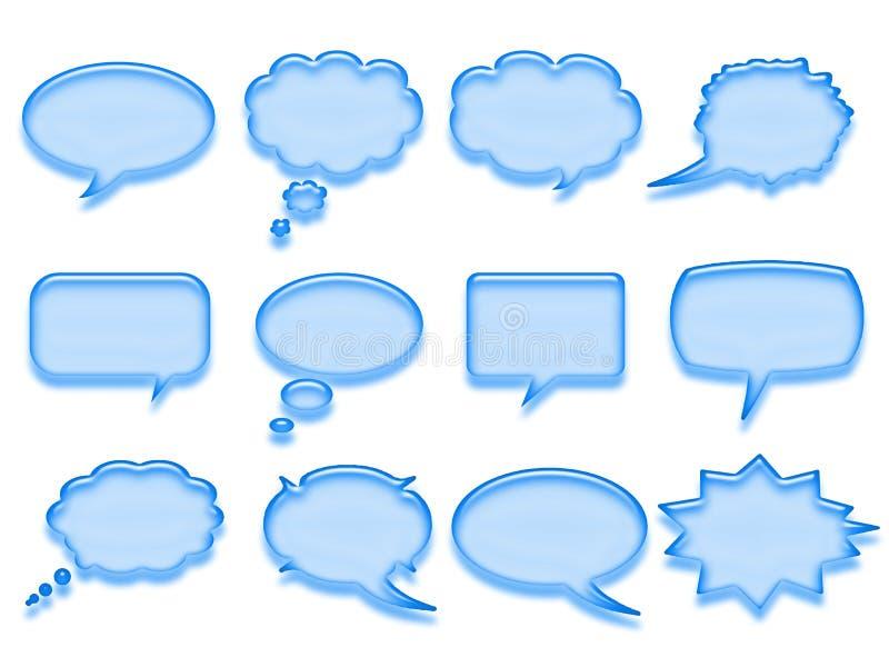 Bolha azul da conversa ilustração stock