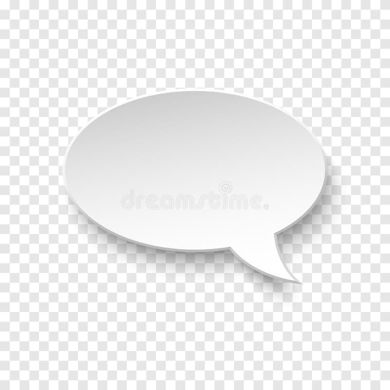 Bolha branca do discurso do papel vazio do vetor ilustração stock