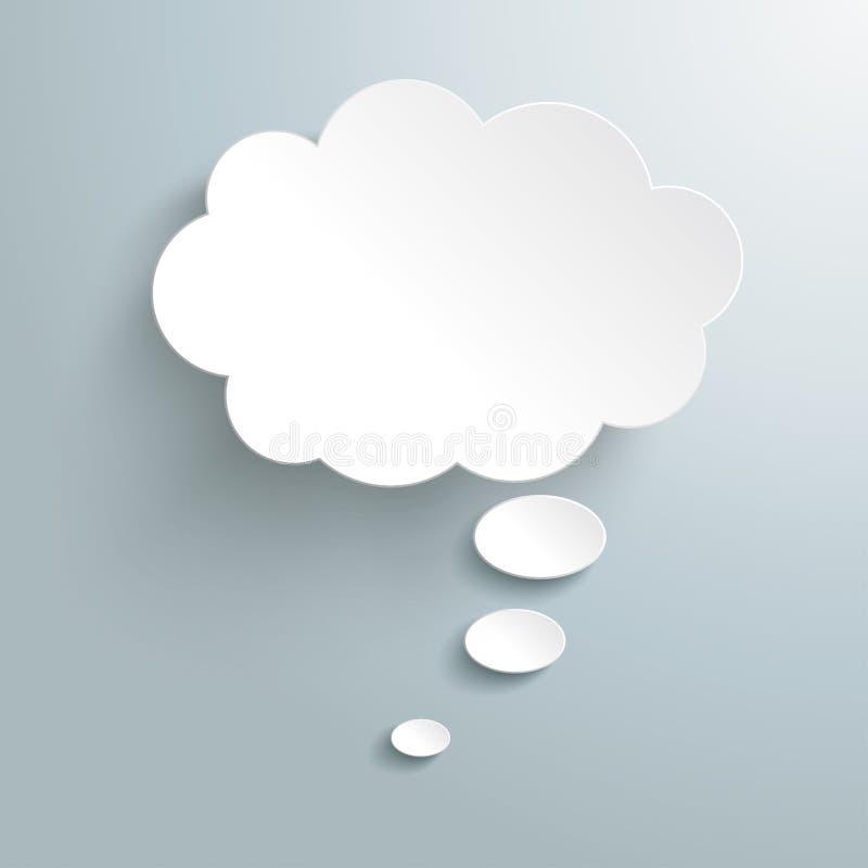 Bolha branca do pensamento ilustração do vetor