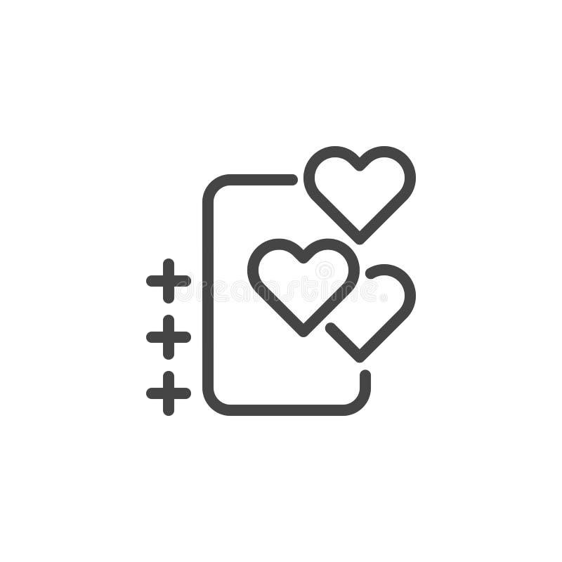 Bolha com ícone do coração para o bate-papo do amor em redes sociais, datando locais e apps, treinamento romântico, uma comunicaç ilustração stock