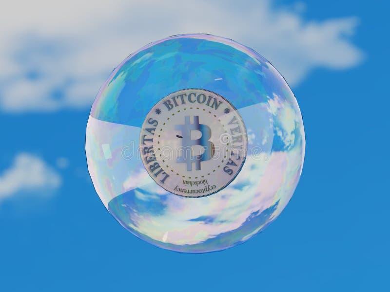 Bolha Cryptocurrency de Bitcoin imagem de stock royalty free