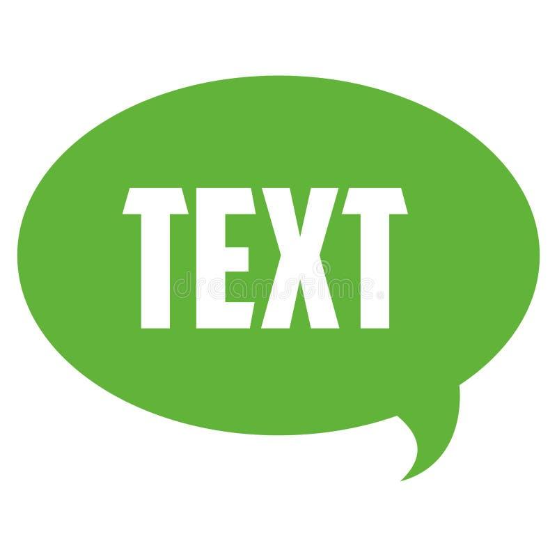 bolha da conversação com texto para dentro ilustração stock