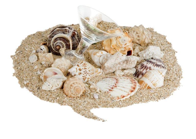 Bolha da conversa dos Seashells fotos de stock royalty free
