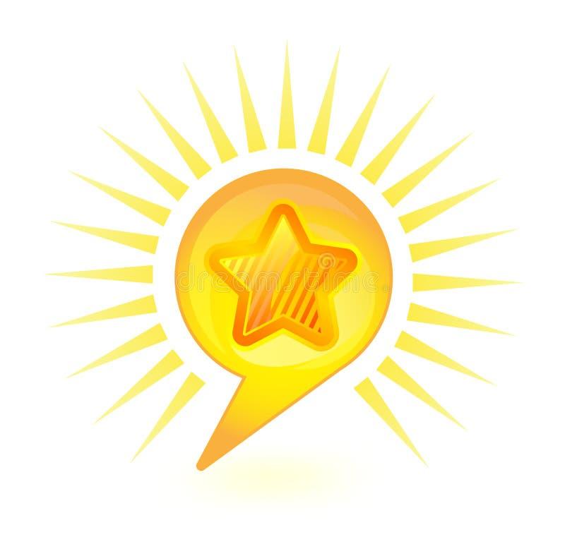 Bolha da estrela ilustração royalty free