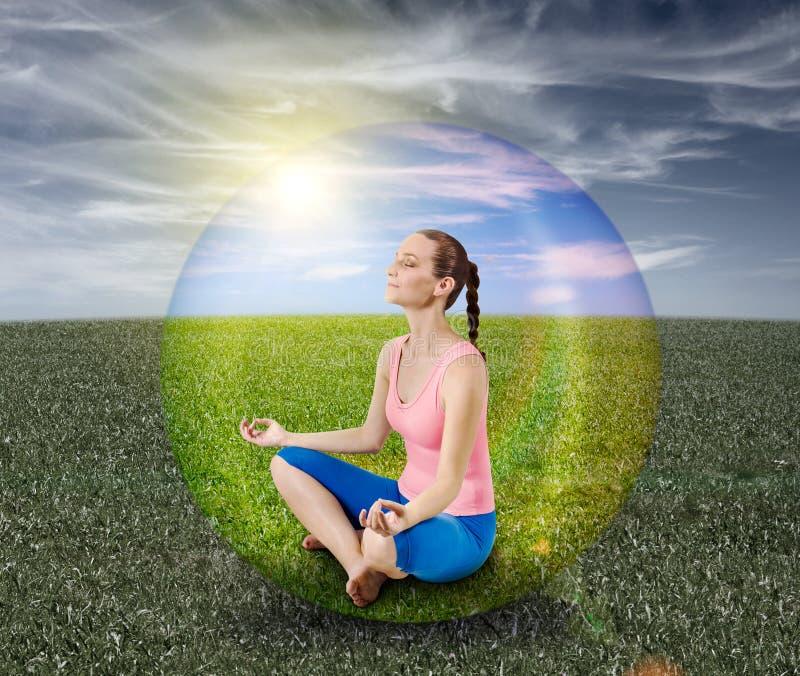 Bolha da meditação foto de stock