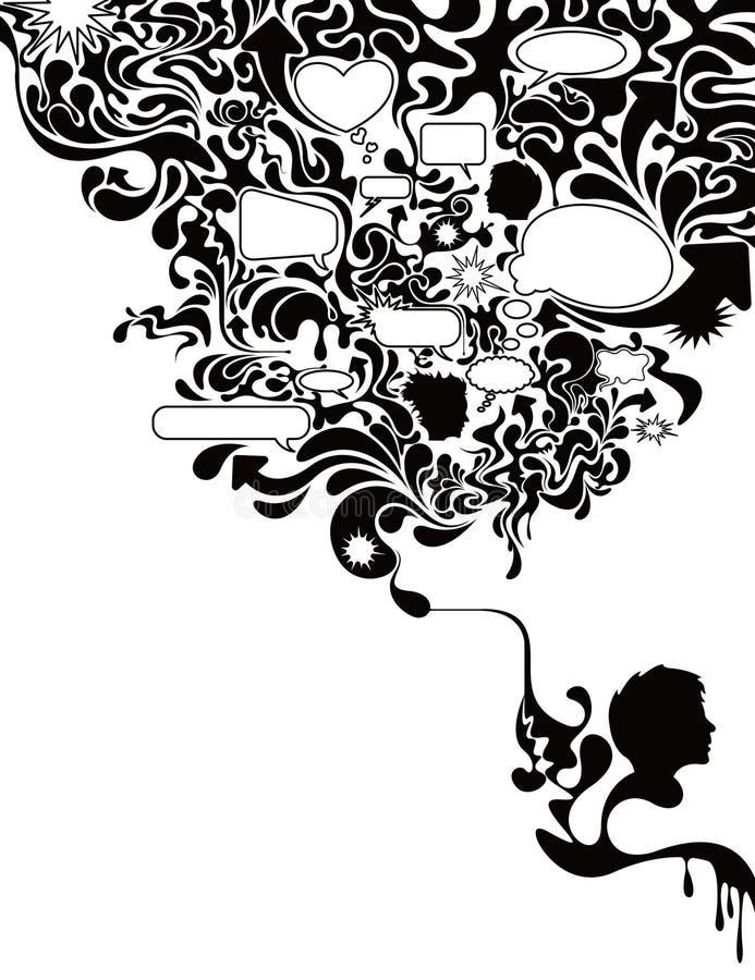 Bolha de conversa 3 ilustração royalty free