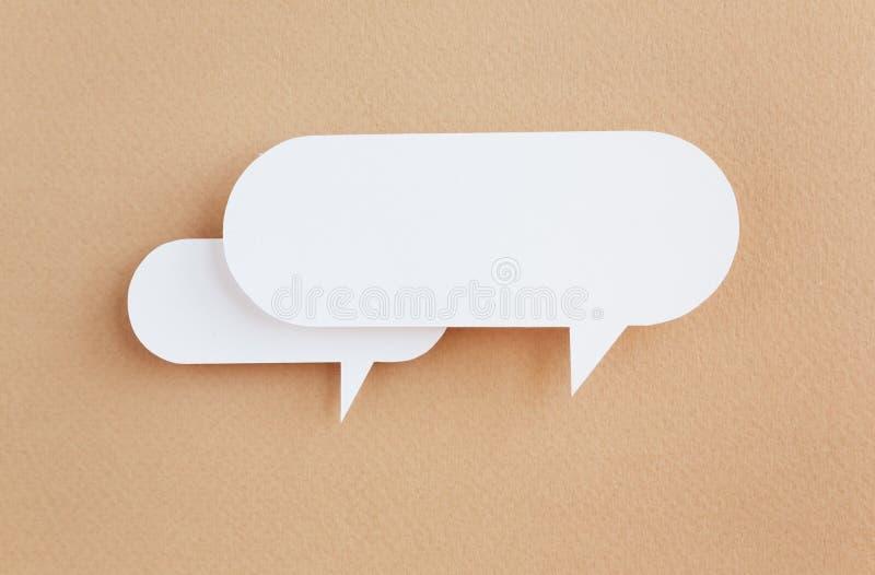 Bolha de papel do discurso imagem de stock