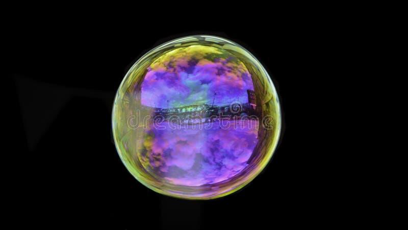 Bolha de sabão colorida bonita imagem de stock royalty free