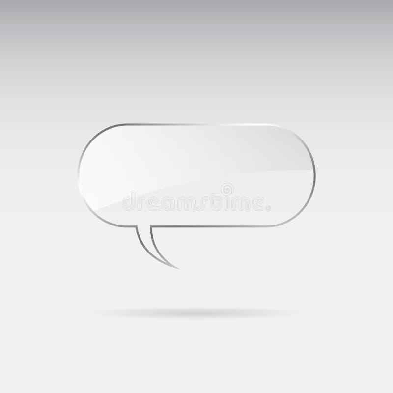 Bolha de vidro do discurso ilustração stock