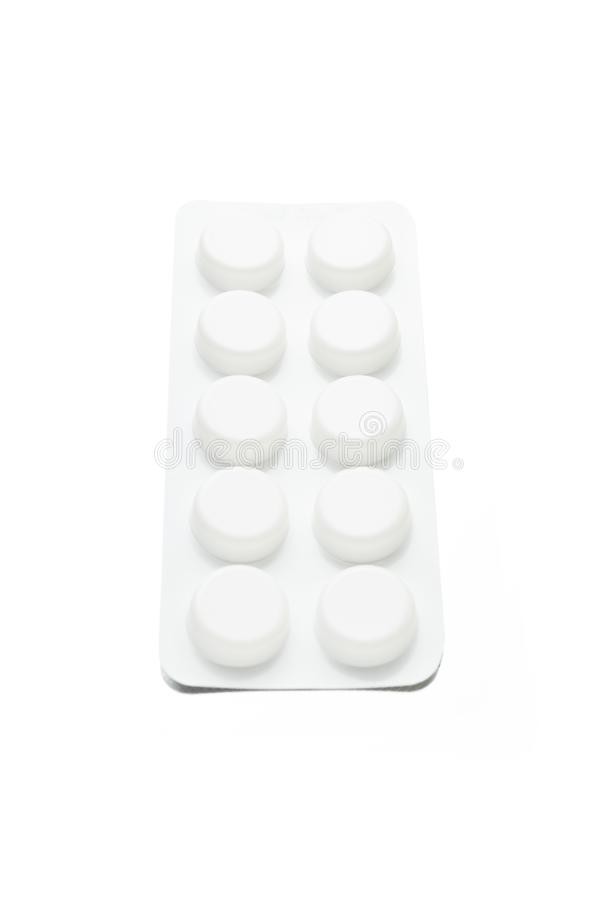 Bolha do bloco do comprimido, tabuletas da medicina fotografia de stock royalty free