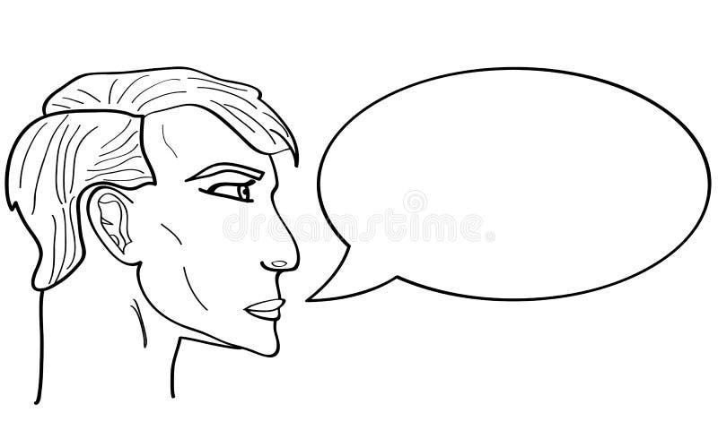 Bolha do discurso ilustração stock