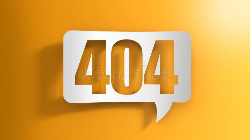Bolha do discurso com 404 ilustração do vetor