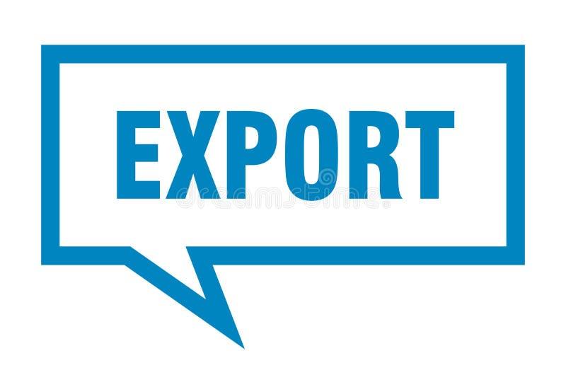 bolha do discurso da exporta??o ilustração do vetor