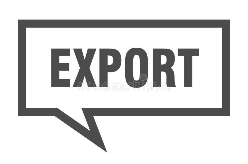 bolha do discurso da exporta??o ilustração royalty free
