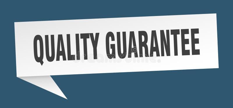 bolha do discurso da garantia de qualidade ilustração royalty free