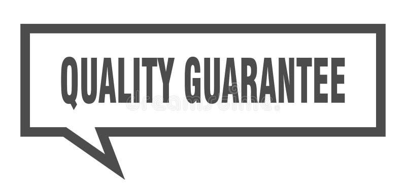 bolha do discurso da garantia de qualidade ilustração stock