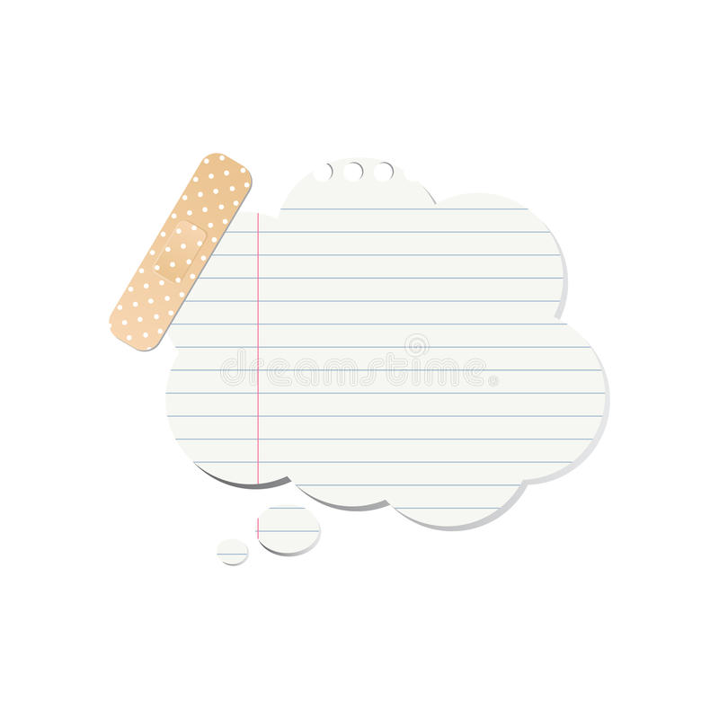 Bolha do discurso do papel para cartas ilustração stock