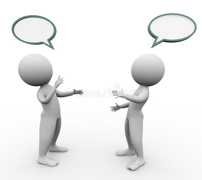 bolha do discurso dos homens 3d ilustração royalty free