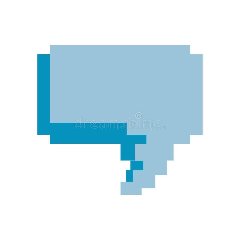 Bolha do discurso do jogo de vídeo do pixel ilustração royalty free
