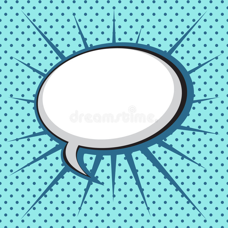 Bolha do discurso no estilo da Estalar-Arte ilustração stock