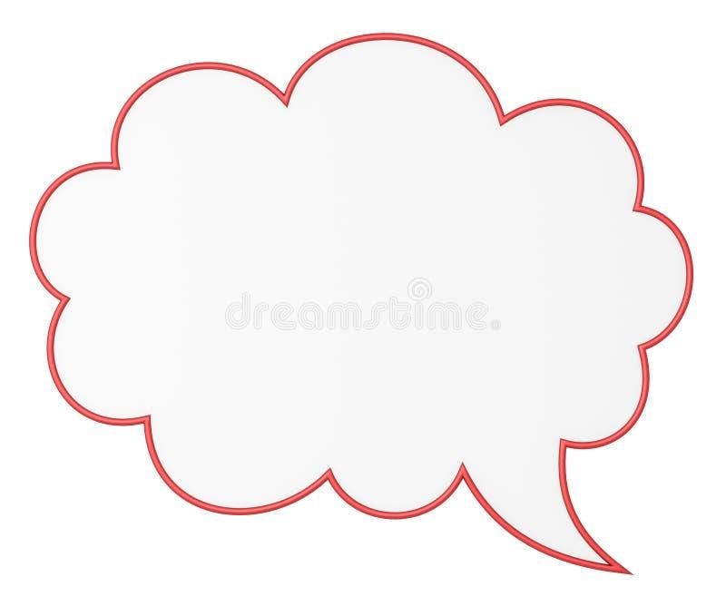 Bolha em branco do bate-papo ilustração do vetor