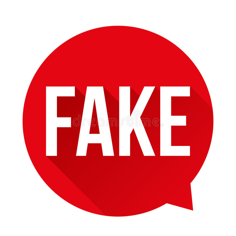 Bolha falsificada do discurso do sinal de aviso ilustração royalty free